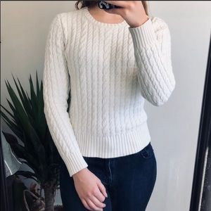 Gap Cream White Cable Knit Sweater